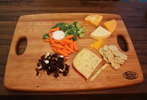 Handcrafted Butcher Block Bread and Bar Boards / A first hand look at our new line of butcher block products, handcrafted in Grand Rapids, Michigan, for your cooking and entertaining needs! Stock up on cherry, maple and hickory bar and bread boards, handcrafted to perfection. #McClureTables