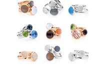 BOUTON ring Collection / Discover our stackable BOUTON rings in two sizes. Mix and match your favorite colors.