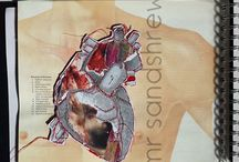 mr sandshrew love and heartbreak sketchbook / From an initial starting point of 'love and heartbreak' my example sketchbook and studies explore, as wide a variety of media as possible, with a view to expressing concept whilst linking throughout. KS4/5 media experimentation example sketchbook.