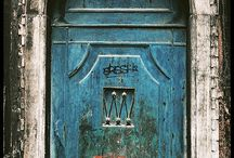 """Doors / I have this """"thing"""" about doors. They intrigue me .... What's behind them, who has gone through them .... What is their story!"""