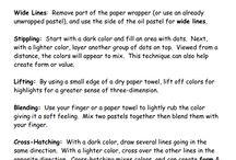 oil pastels info / by Yelena Shabrova