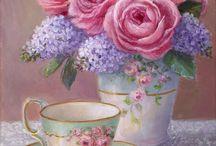 teacup paintings