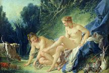 Francois Boucher...Diana getting out of her bath. 1742