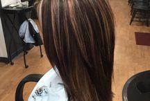 Mahoganny Hair With Blonde