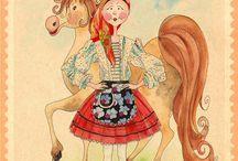 Marias de Portugal / Illustrations about portuguese folklore