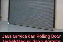 Service, bongkar pasang dan pemasangan baru Rolling Door cawang  kalibata Jakarta Tlp.089633665538