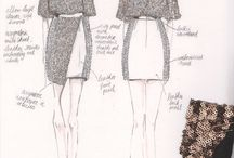 fabric swatches+ development sketches