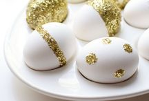 Chic Easter eggs and decor