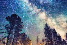 paisajes y galaxias