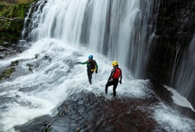 Our Favourite Activity - Canyoning / This is our favourite outdoor adventure activity in Wales canyoning. A fantastic high adrenaline outdoor activity which takes place in the Brecon Beacons, Wales.
