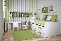 dormitorio pequeño para adolescente