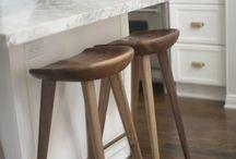 Modern and mid century bar stools