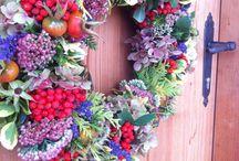Herbst-Kranz / Alles was der Gärten zu bieten hat