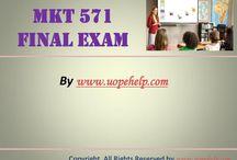 MKT 571 Final Exam Latest UOP Complete Class
