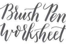 Kalligraphie - Handlettering