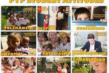 MUNDO PEP / Carteles y diseños del programa de Educación Internacional del Colegio El Valle de Alicante. IB , PYP