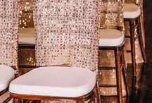 wedding linens / chair styling and luxury linens