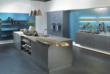 Stainless Steel cabinets, kitchens and laundry / Cabinets called AlnoInox, the fronts are made in 100% pure stainless steel