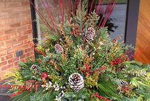 Christmas planters and outside decorations