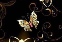фон бабочки