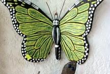 πεταλούδες πηλός