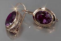 Russian Vintage earrings rose Soviet gold! / Russian Vintwge Earrings