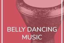 Belly dance class and music