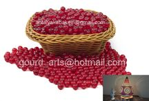 GOURD LIGHT BEAD ( BEAD FOR MAKING GOURD LAMP ) / These beads are produced specificly to make authentic gourd lamps.Beads do  not have hole and made of acrylic, not plastic. Acrylic beads are more transparent than plastic beads. Available size 4 mm, 6 mm and 8 mm.  6 mm beads are more commonly being used than 4 and 8 mm beads. When a gourd lamp is supported and decorated with 4 mm beads along with 6 mm beads the result is perfect but installing 4 mm beads is a real matter of patience...:)