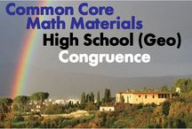 CCHS (Geo): Congruence / Common Core High School (Geometry): Congruence. Great teaching resources that help students 1) Experiment with transformations in the plane. 2) Understand congruence in terms of rigid motions. 3) Prove geometric theorems. 4) Make geometric constructions.