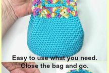 This Little Bag is made using the Hard Crochet technique (easy to learn, free