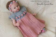 Robe bébé au crochet