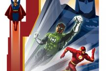 DC Justice League Retro Collection at Wallure / http://wallure.com/index.php/uk/posters/dc-justice-league-retro-collection.html