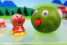 アンパンマンストップモーション❤粘土の中から飛び出せ!アニメ&おもちゃ Anpanman toys
