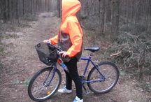 orange 2 / waterproof raincoats