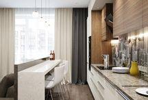 Гостинная-столовая-кухня