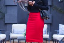 Pencil Skirt and Flats