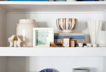 bookshelf styling / by Melaine Bennett Thompson