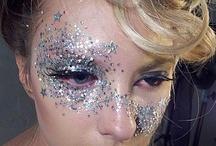 glitter face makeup ideas