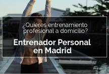 Soy tu Entrenador Personal / Aquí tienes algunos de los servicios que puedes encontrar en mi web. Si estás en Madrid entrena conmigo cuerpo a cuerpo. Para el resto del mundo... te puedo entrenar online si lo deseas.