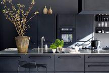 Dark and brooding kitchens