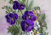 Embroidery flower ribbon