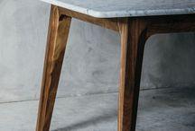 sofabord med træstel
