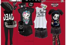 Scene/Emo outfits / exactly what the title says