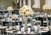 Sacramento Grand Ballroom / Ivory, taupe and navy blue wedding design