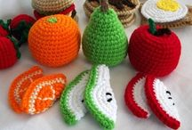 what for my crocheted dinner ? / vegetables, fruits, meals and all needed for eat... in crochet or knitting.