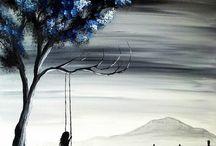 akrilik boya tablolar