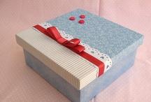 caixas com tecido