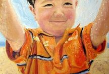 Custom portrait paintings from photos / Examples of paintings based on my client's own photos.  You are welcome to  send me your favourite photos for me to assess and advise how they could used to inspire an original painting.   http://amazon.com/handmade/Bee-Skelton-portrait-artist