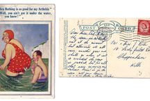 Vintage Postcards / I have been collecting vintage postcards and posting them on my travel blog http://wayoutfar.com
