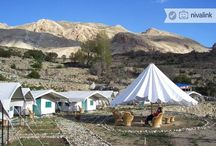 Camps And Hotels In Upper Kinnaur And Spiti Valley / Camps and Hotels in Upper Kinnaur and Spiti Valley offer travellers an experience of the remote Himalayas and popular with bikers, adventure travellers, offbeat travellers and pilgrim travellers visiting remote Himalayan monasteries.